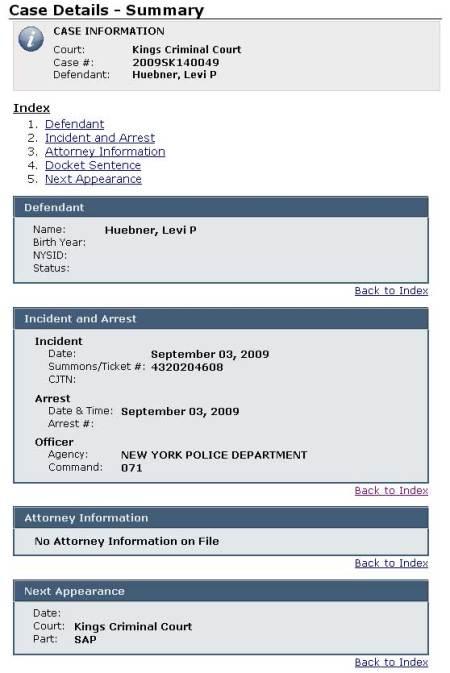 Arrest details