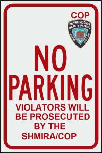 No Parking-SHMIRA-COP Mesira