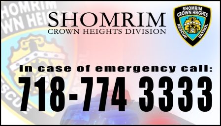Shomrim crown heights 774-3333