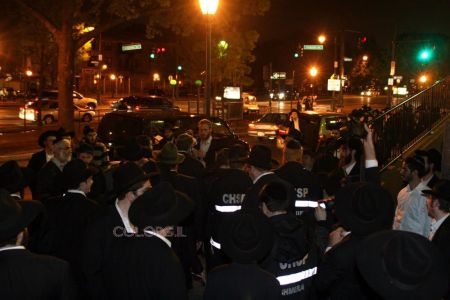 "2008 Dov Hikind being escorted around Crown Heights with his Shmira Mesirah buddies. Fast forward 2012, How many of these ""concerned"" Shmira guys are involved in security of our neighborhood?"
