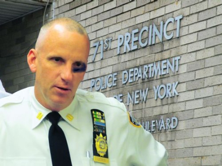 (Illustrative Photo) Commanding Officer of the New York Police Department's 71st Precinct John J. Lewis