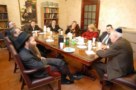2010: Charles J. Hynes meets with members of the Crown Heights Jewish Community Council, Inc.