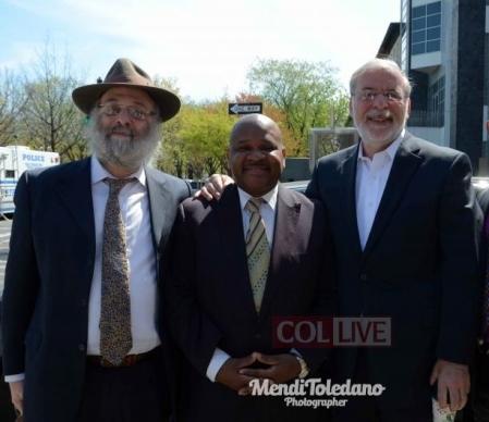 [L/R] The Mosser Paul Huebner, Geoffrey Davis and Dov Hikind