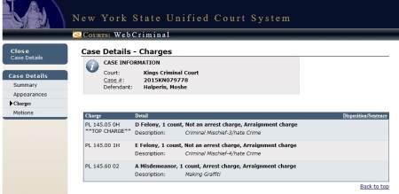 Halperin, Moshe-charges