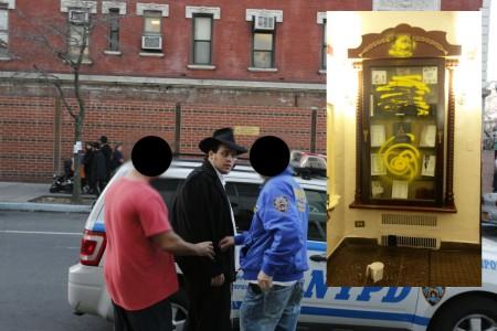 meshichist-Moshe Halperin- Vandalism-770-arrested